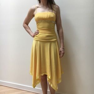 Yellow dress, cocktail, size small